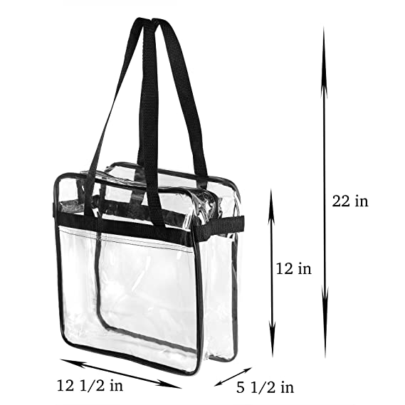 9ea201f3b5a4 Bags for Less NFL    PGA Compliant Clear Stadium Security Zippered Shoulder  Bag Travel
