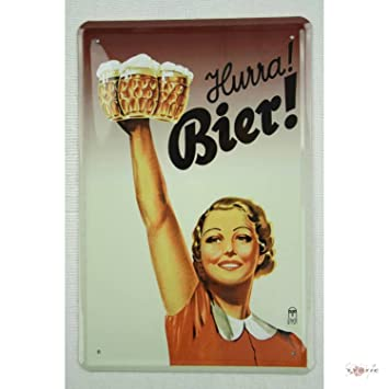 Blechschilder Küche hurra bier blechschild gewölbt neu 20x30cm vs2771a amazon de küche