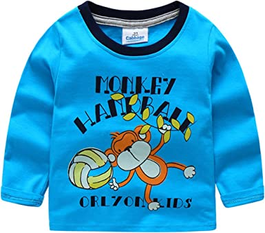 Keep Calm Swim On Boys Girls Pullover Sweaters Crewneck Sweatshirts Clothes for 2-6 Years Old Children