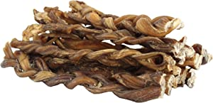 "Downtown Pet Supply Braided Bully Sticks for Dogs - Low Odor, Long Lasting, 100% Natural Dog Dental Chew Treats, (5"", 7"", 9"")"