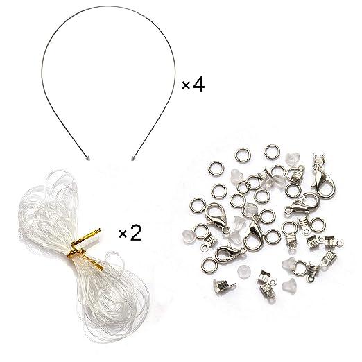 SAVITA 800stk Bunte Perlen f/ür Schmuck Halskette Armb/änder Bastelset Herstellung Acryl Sortierte Perlen Bastelgeschenk Kit f/ür Kinder
