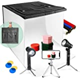 """LimoStudio 24"""" x 24"""" Table Top Photo Photography Studio LED Lighting, Light Tent Kit in a Box, Photo Background Shooting Tent"""