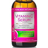 BEST ORGANIC Vitamin C Serum Professional Topical Facial Skin Care Helps Repair Sun Damage Fade Age Spots Dark Circles L ascorbic Acid Wrinkles & Fine Lines - 1 oz.
