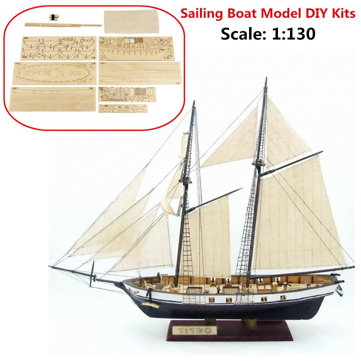 Aissimio 1:130 Wooden Ship Models DIY Ship Model kit Boat Ships Kits Sail Boat Wooden Model Kit Toy .