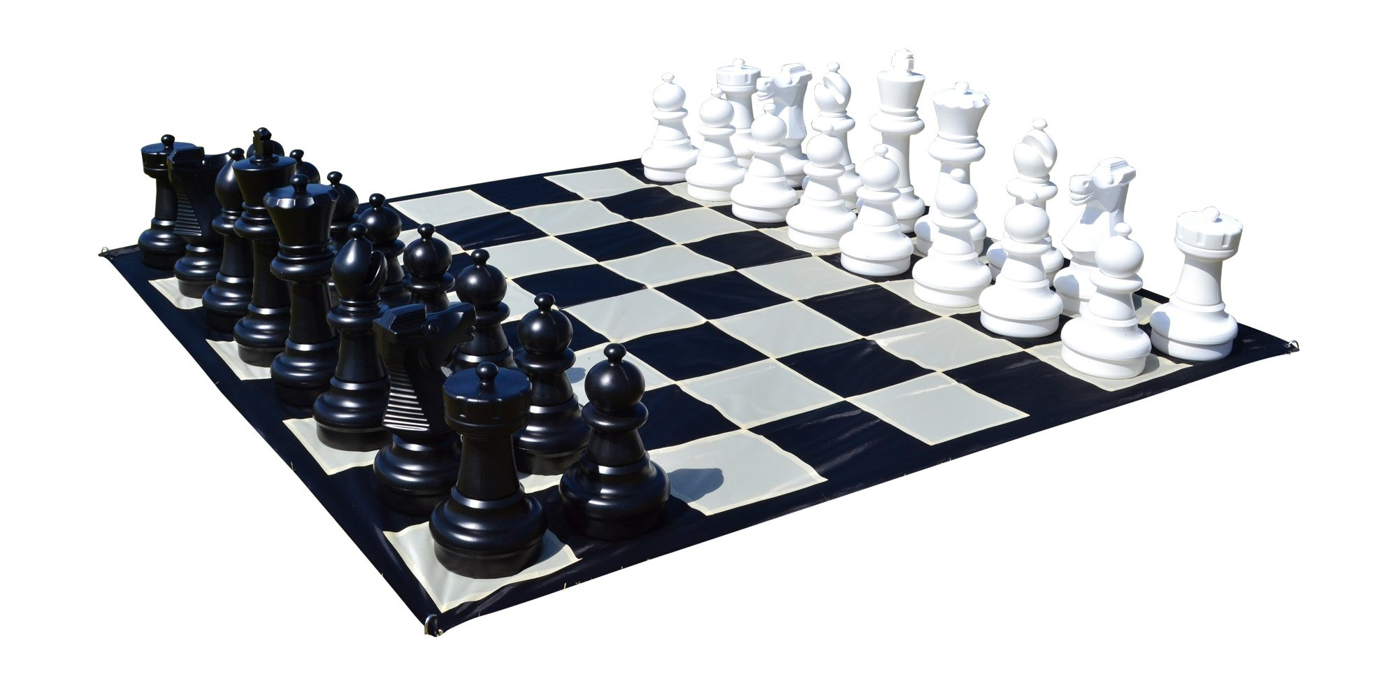 MegaChess Giant Premium Chess Complete Set with 25 Inch Tall King - Black and White by MegaChess