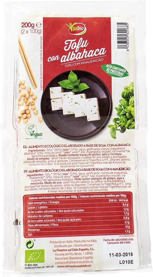 Tofu con albahaca BIO - Vivibio - 200gr: Amazon.es ...