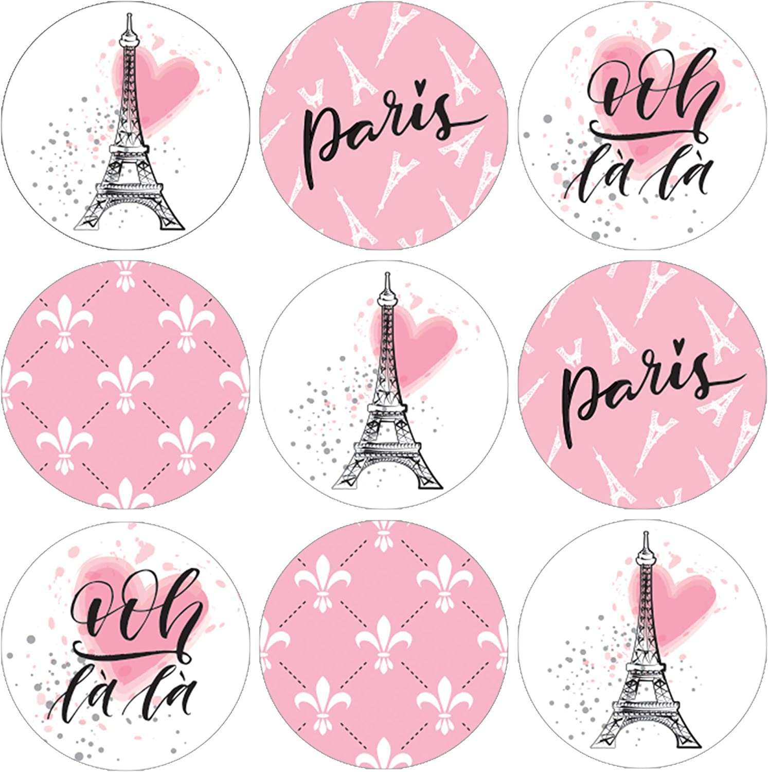 Baby Shower 324 Paris Kisses Stickers Labels Wedding Eiffel Tower Pink Kisses Stickers for Birthday Party Pink Paris Themed Hersheys Kisses Party Favors