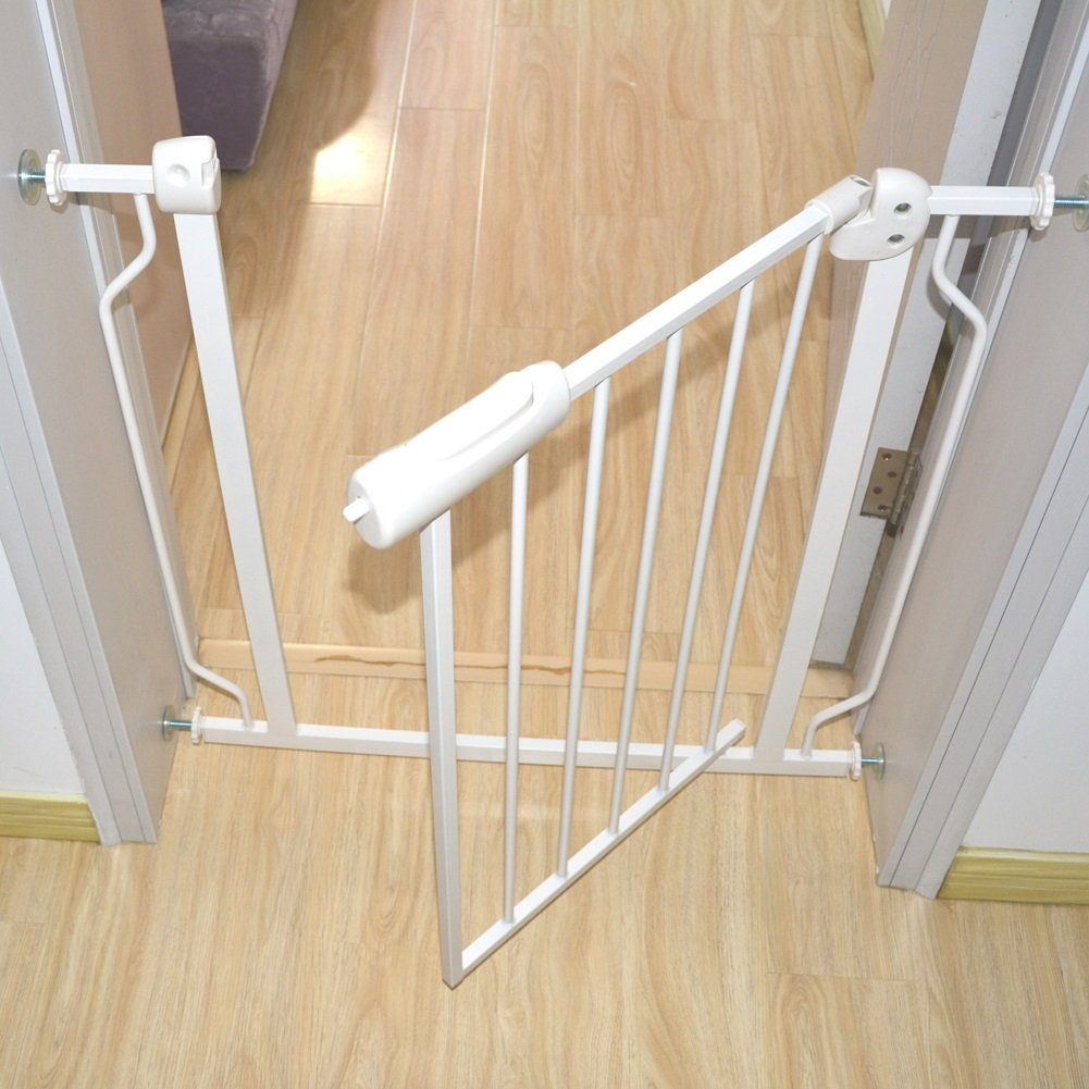 Fairy Baby Narrow Baby Gate for Stairs Walk Through Easy Auto Close White Child Safety Gate,Fits Spaces Between 48.0'' and 52.75'' Wide,White (3-7 Days delivery)) by Fairy Baby (Image #3)