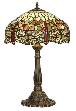 Dragonfly tiffany table lamp amazon lighting dragonfly tiffany table lamp aloadofball Images