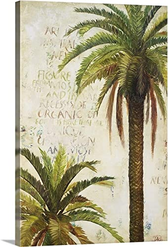 Palms and Scrolls I Canvas Wall Art Print