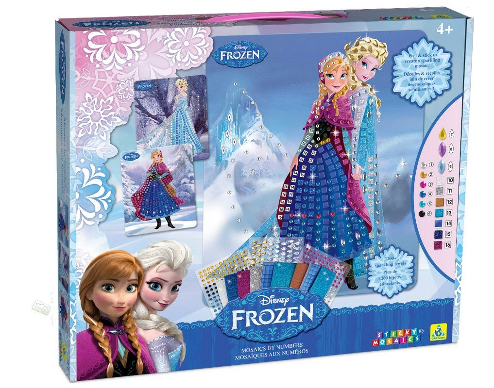 Disney Sticky Mosaics Frozen Anna and Elsa with Jewels ORB Factory OSM11442