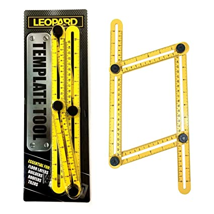 Template Tool, Multi-Angle Ruler for Accurate Measurement Time Saving, Hanging Tile Laying