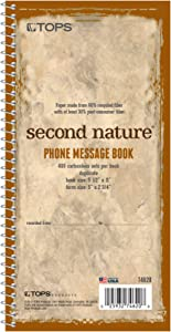 TOPS Phone Message Pad Call Book, Carbonless Paper 2 Part, 2 3/4 x 5, 400 Forms - 74620, White