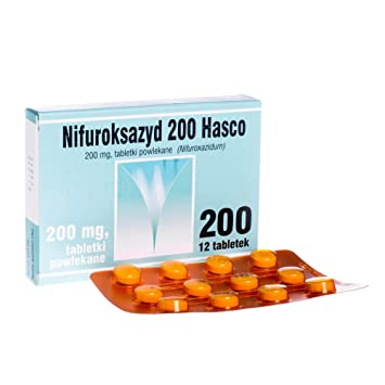 2 x HASCO NIFUROKSAZYD 200mg 12 TABS - Total 24 TABS - Long Lasting Diarrhea