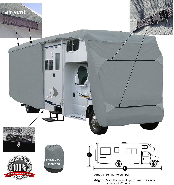 SavvyCraft Class C RV Motorhome Camper Cover Fits 33 34L Zipper Access
