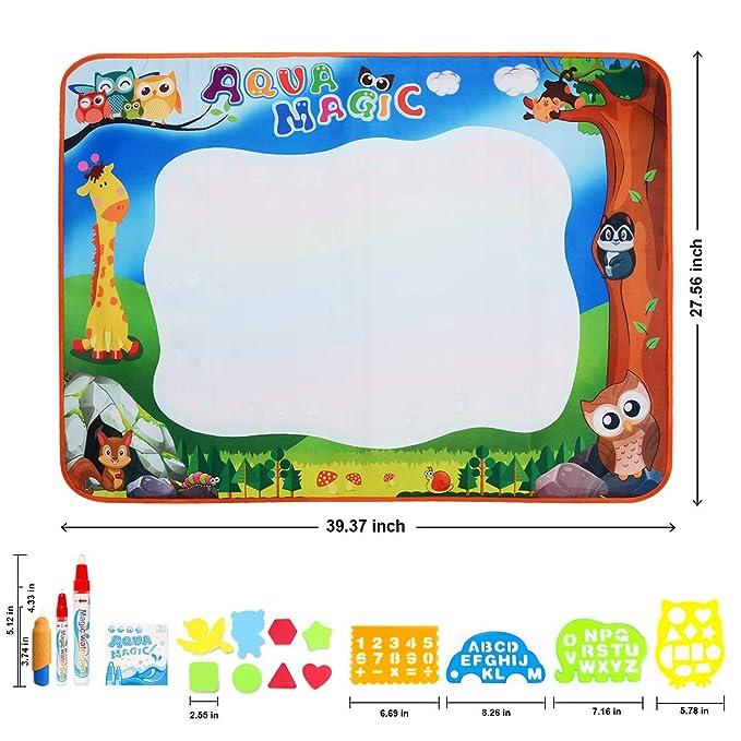 DOOLLAND Tapete de Agua, tamaño Grande, 100 x 70 cm, mágico, para Dibujar Agua, Pintura, Juguete Educativo, Regalo para niños: Amazon.es: Juguetes y juegos