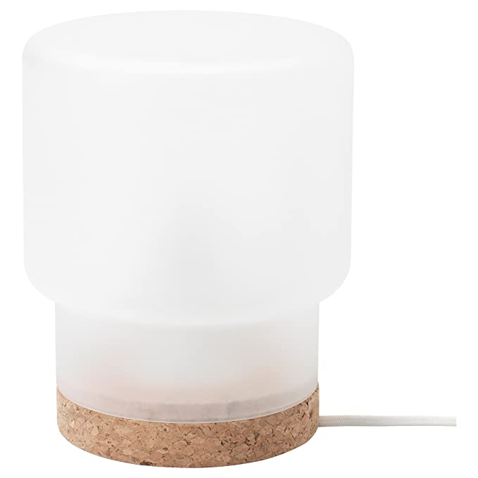 IKEA SINNERLIG - Lámpara de mesa de vidrio esmerilado ...