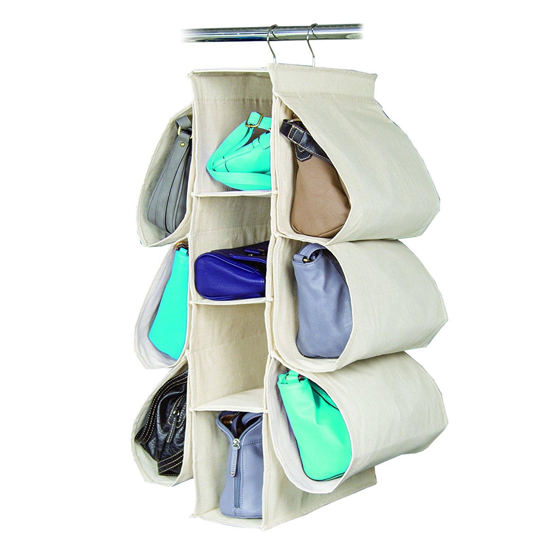 Hanging矢印織りキャンバスセーターとアクセサリーオーガナイザー Handbag Organizer ベージュ HC-80847 B01F7U558Y Handbag Organizer ベージュ ベージュ Handbag Organizer