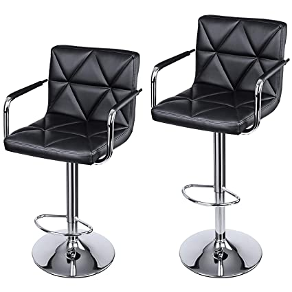 Supply 2pcs Modern Adjustable Backrest Bar Chairs 360 Degree Rotation Seat Stool Restaurants Living Room Office Cafe Furniture Kit Selected Material Bar Furniture Furniture