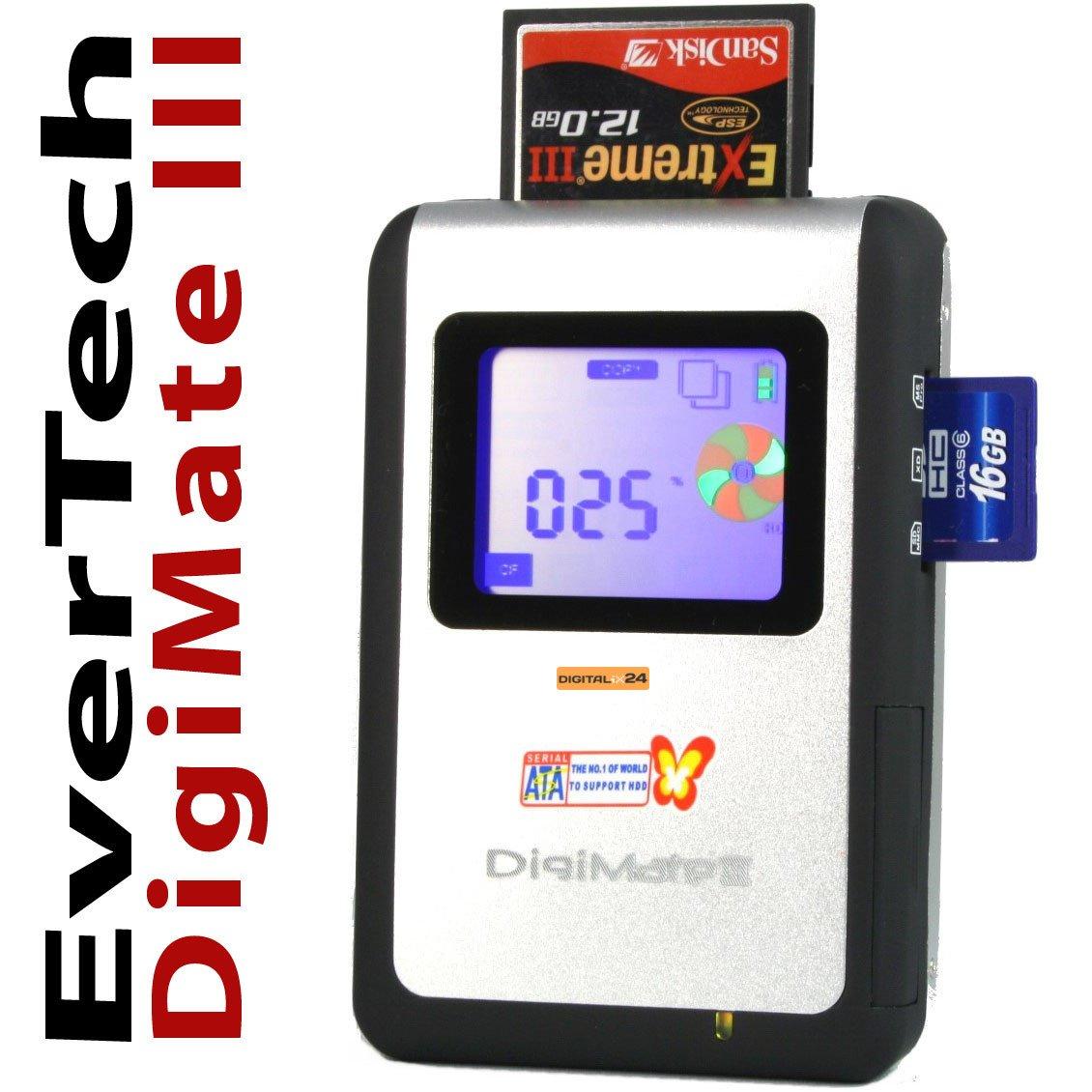 500 GB SSD EverTech DigiMate III SDHC SATA Portable Photo Bank, ImageTank,  Photo Backup Storage, mobile Data Storage Device and external Hard Drive  (USB ...