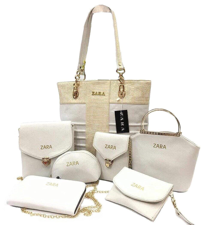 85ef7f1f290 Zara Set Of 7 Leather Handbag/Slingbag/ Shoulder Bag /Wallet For Women  -Navy Blue (Bag333): Amazon.in: Shoes & Handbags