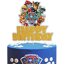 Children mini toys and Shower Birthday party supplies 12PCS paw patrol cake topper cup cake topper