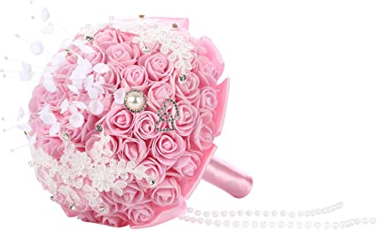 Amazon Com Bodarind Wedding Bouquet For Bride Bridesmaids