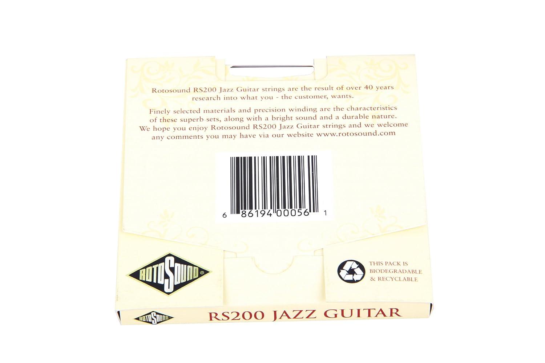 Rotosound RS200 Jazz Monel - Juego de cuerdas para guitarra, entorchado plano, 12-52: Amazon.es: Instrumentos musicales