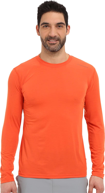 Brooks Herren Laufshirt Langarm Shirt Distance Long Sleeve Orange - 210845-890