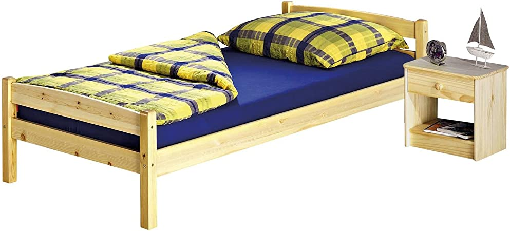 Idimex Lit Simple Lit Enfant Felix 2 Pin Massif 90 X 190 Cm Vernis Naturel