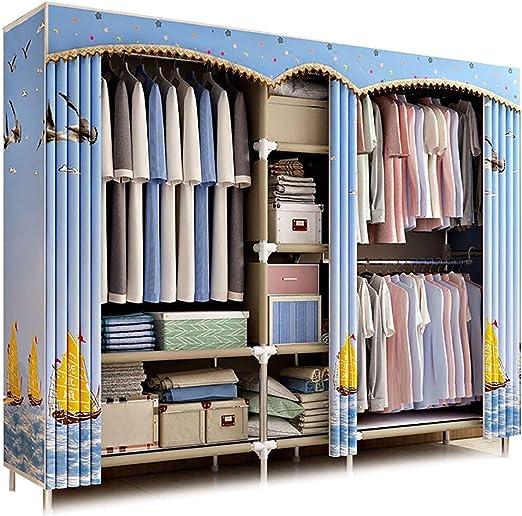 Amazon.com: XIAONUA Clothes Closet Wardrobe, Cloth Wardrobe Storage Organizer System,Fabric Wardrobe Closets for Bedroom,Simple and Elegant,A_79.9x17.7x67.7inch: Home & Kitchen