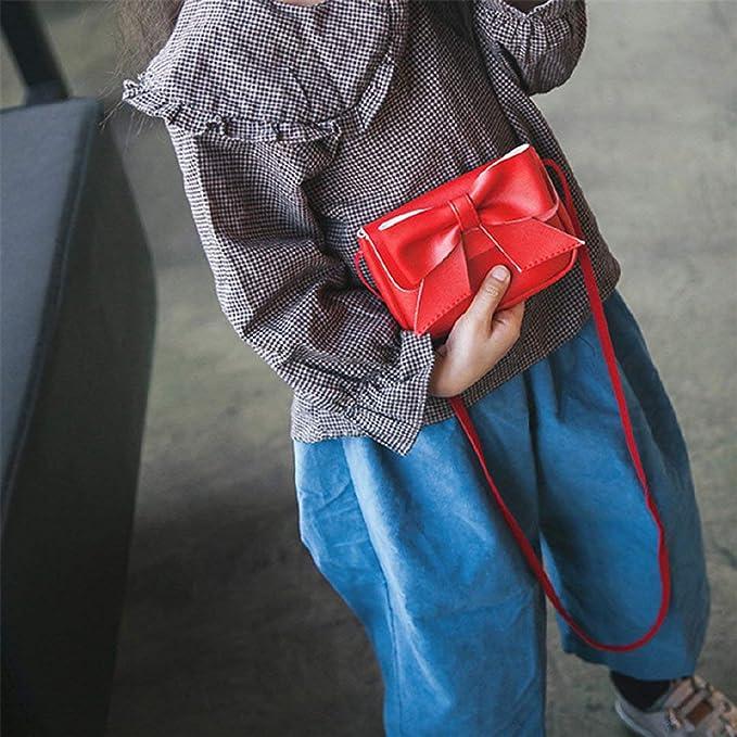 Zilosconcy Mochila Color sólido Infantil Bolso Bandolera de Cuero de Bowknot Lindo para niños Bolso Mini Bandolera Billetera: Amazon.es: Ropa y accesorios