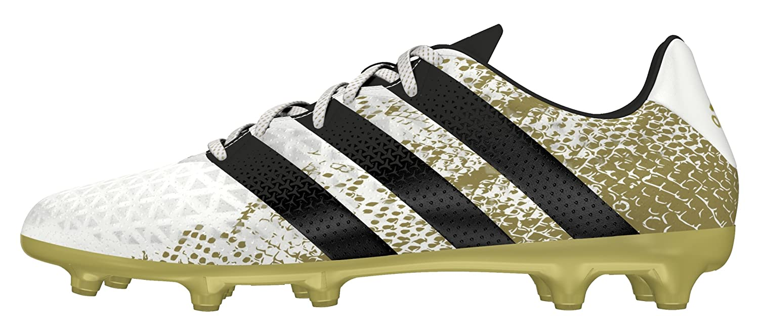 25c3a880 Amazon.com | adidas Ace 16.3 FG Firm Ground Mens Soccer Soccer Boot  White/Gold - US 10.5 | Shoes
