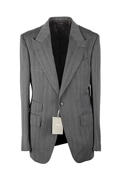 Amazon.com: CL – Tom Ford Shelton traje gris tamaño 48/38R ...