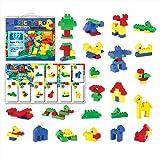 [177 Pieces] Compatible Large Building Block Toys by Brickyard, For Children Ages 1.5 - 5, Fits Large Blocks - Bulk Block Set