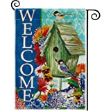 DOLOPL Welcome Garden Flag 12.5x18 Inch Double Sided Decorative Verticle Flowers Birdhouse Seasonal Yard House Flag for…