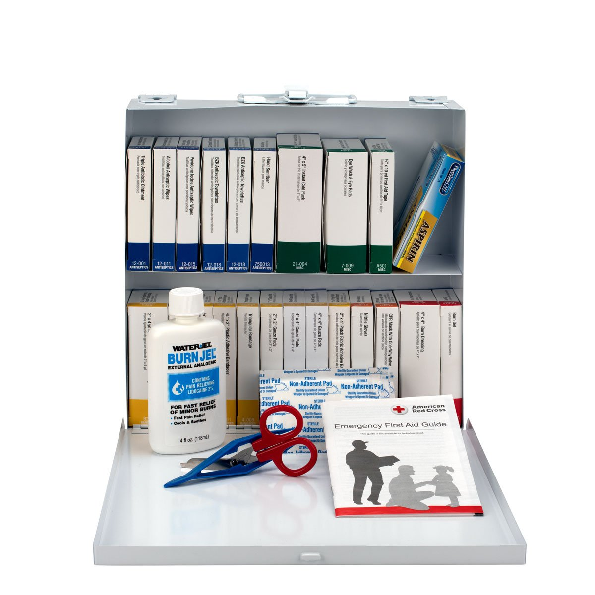 75 Person Restaurant First Aid Kit, Metal Case - OSHA Compliant Emergency Kit Trauma Kit First Aid Kits for Restaurants