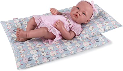 Fits American Girl Dolls and Other 18 Inch Dolls 18 Inch Doll Bedding 2 Pc Reversible Print Baby Doll Bedding Accessories with Comforter and Pillow Set