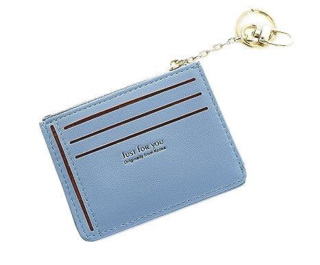 bf2fbe022b Porta carte di credito Pelle per Uomo Donna Portafogli tessere slim  tascabile,Porta Monete Sottili