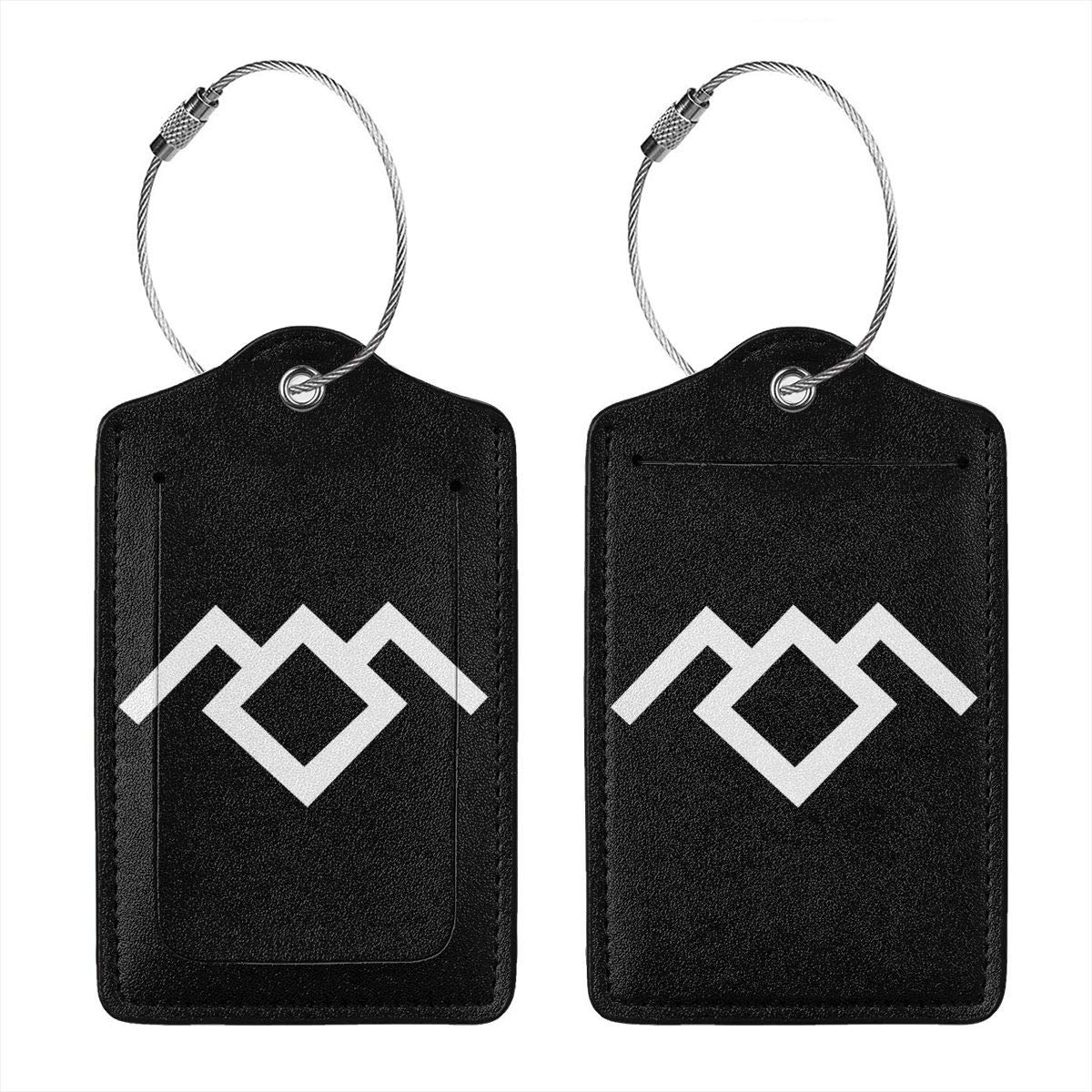 Twin Peaks Owl Cave Symbol Leather Luggage Tag Travel ID Label For Baggage Suitcase