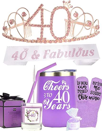 40th Birthday Decorations for Women 40th Birthday Tumbler 40th Birthday Gifts for Women 40th Birthday Gifts for 40 Year Old Woman Turning 40 Year Old Birthday Gifts Ideas for Women