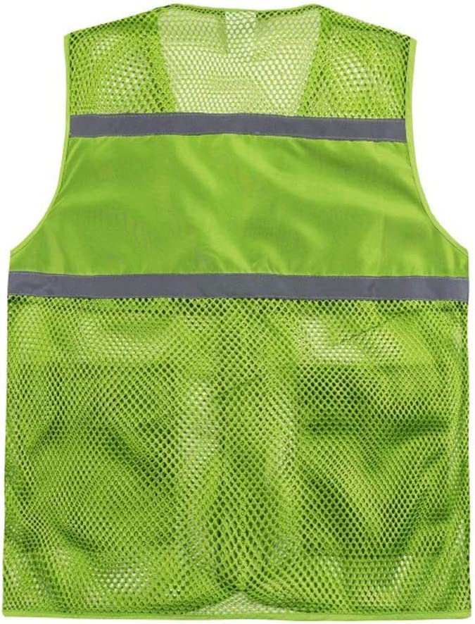 Green,XXXXL Sooiy Chaleco de Alta Visibilidad Chaleco Reflectante Chalecos de Seguridad