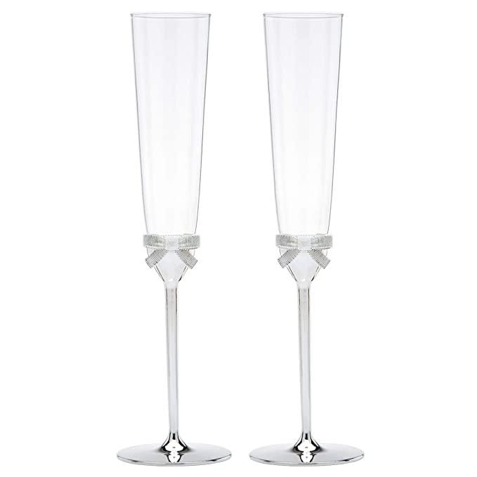 71900ba0951 Amazon.com | kate spade new york Grace Avenue Toasting Flute Pair:  Drinkware Sets: Champagne Glasses
