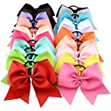 YHXX YLEN 20 Pcs 6 Inch Large Solid Bow Hairpin Girls Bows With Rope Hair Bows
