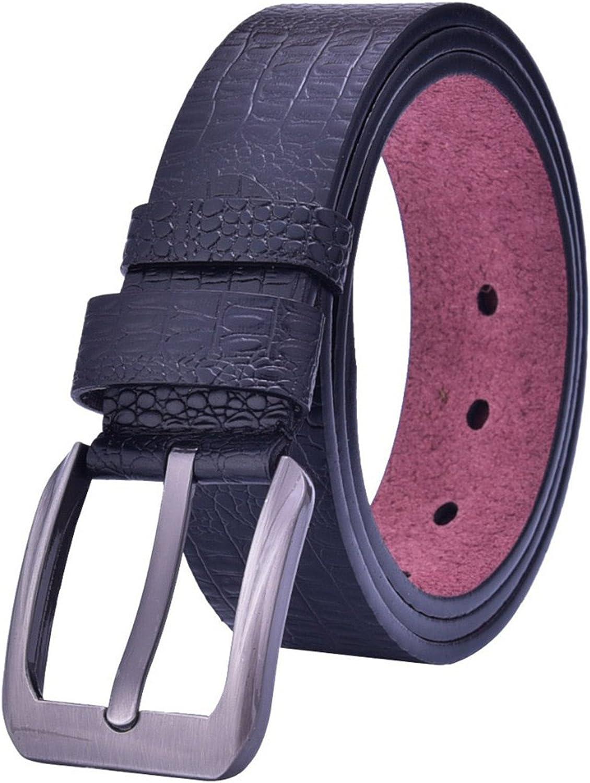 Eric Hug?Fashion PU leather belt fashion luxury belts for men crocodile leather alloy buckle all-match belts cintos