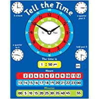 Magnetic Tell the Time Chart. Rigid board 40
