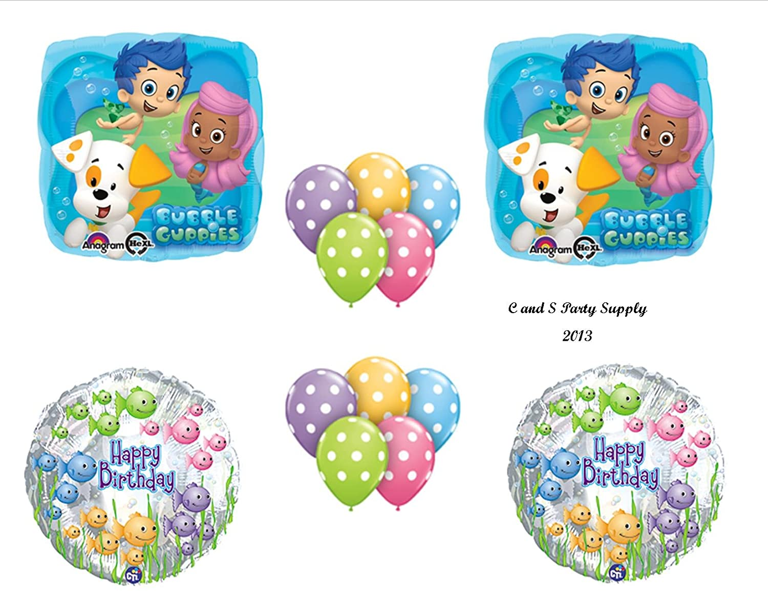 Amazon.com: Bubble Guppies 14 PIECE Birthday Party Balloons ...