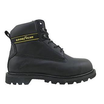 Goodyear Botas de seguridad de piel con corte medio, impermeables, para servilletas, UK