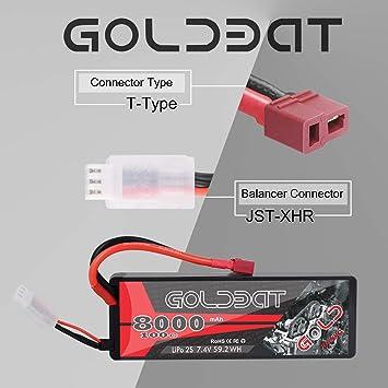 Goldbat Rc Battery 8000 Mah 7 4 V 2s 100c Lipo Battery Elektronik
