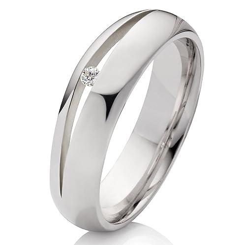 Anillo Alianzas De Anillos De Compromiso Anillo de Matrimonio de plata 925 con Circonita Blanca Y